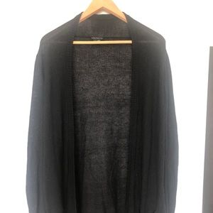 Theory Cashmere Blend Open Cardigan Duster Sweater